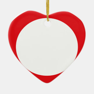 Red Color Circle Simple Customizable Design Christmas Ornament