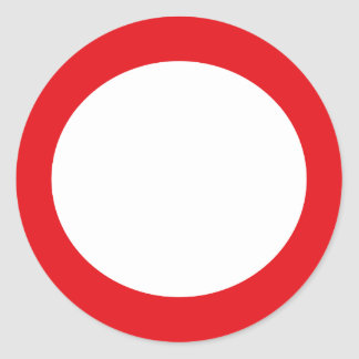 Red Color Circle Simple Customizable Design Round Sticker