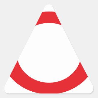 Red Color Circle Simple Customizable Design Triangle Sticker