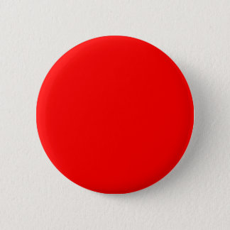 Red Color Plain Solid Bright Neon Red Warm Sun 6 Cm Round Badge