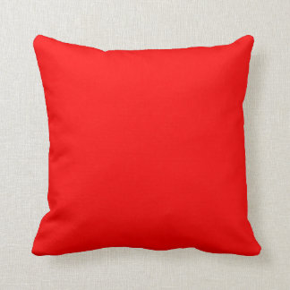Red Color Plain Solid Bright Neon Red Warm Sun Cushion