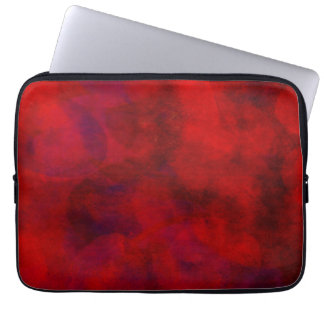 Red Color Watercolor Backdrop Abstract Background Laptop Sleeve