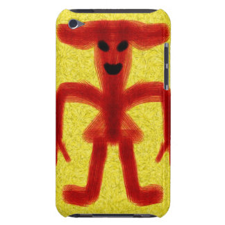 Red colored creature on yellow background barely there iPod covers