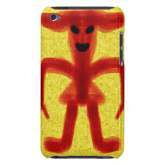 Red colored creature on yellow background barely there iPod case