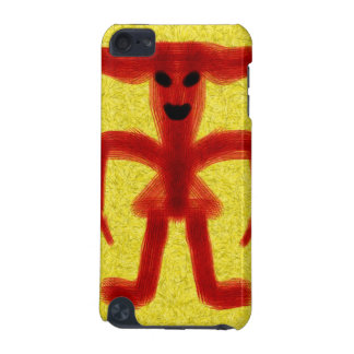 Red colored creature on yellow background iPod touch (5th generation) case