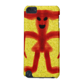 Red colored creature on yellow background iPod touch (5th generation) cases