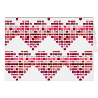 Red Colour Palette, heart shaped red tones Card