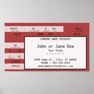 red concert ticket poster