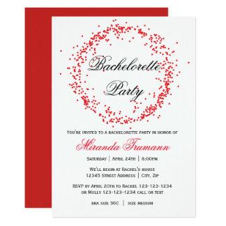 Red Confetti - Bachelorette Party Invitation