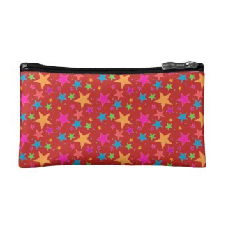 Red Confetti Black Multi Makeup Bag