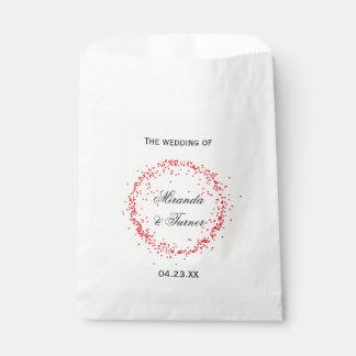 Red Confetti Wedding - Favor Bag