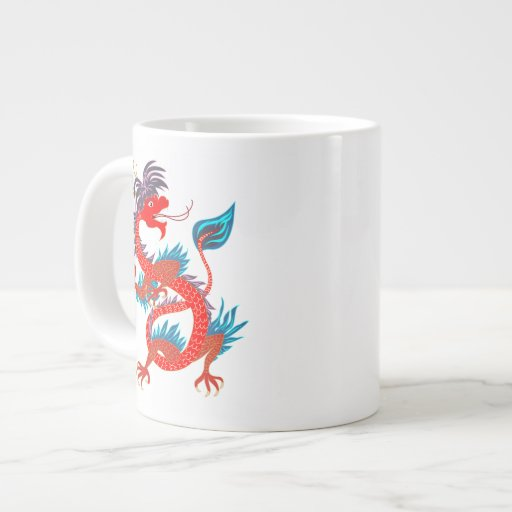 Red Cool Dagon on Specialty  Mug Extra Large Mugs