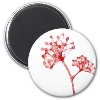 red cool design flower magnet