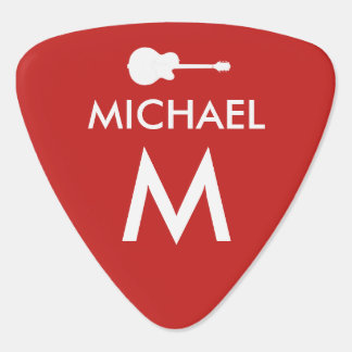 red cool modern guitarist photo guitar pick