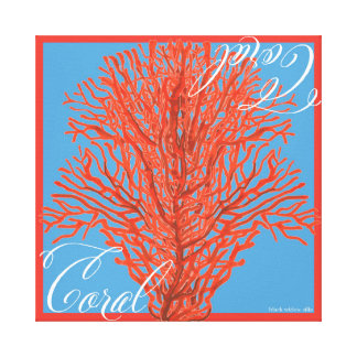 Red Coral Canvas Canvas Print