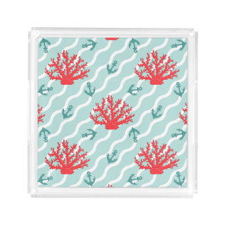 Red Coral Pattern 1