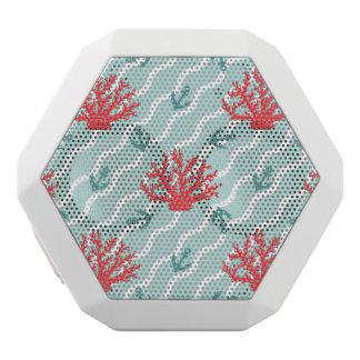 Red Coral Pattern 1 White Bluetooth Speaker