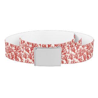 Red Coral Pattern 2 Belt