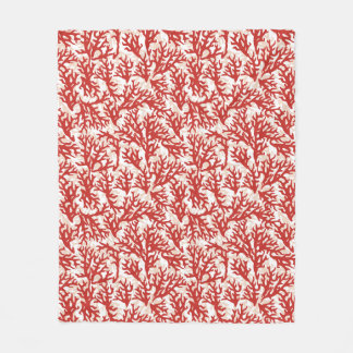 Red Coral Pattern 2 Fleece Blanket