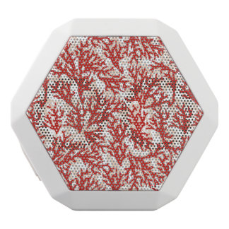 Red Coral Pattern 2 White Bluetooth Speaker