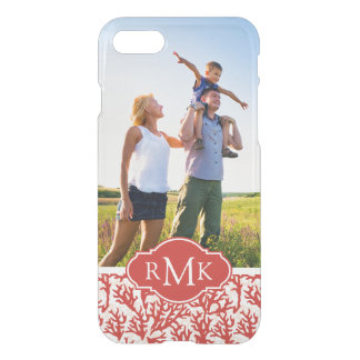Red Coral Pattern | Your Photo & Monogram iPhone 8/7 Case