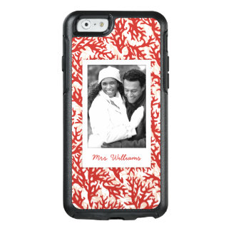 Red Coral Pattern | Your Photo & Name OtterBox iPhone 6/6s Case