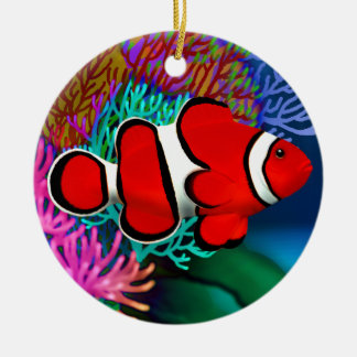 Red Coral Reef Clownfish Ornament
