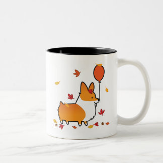Red Corgi Fall into Autumn Mug | CorgiThings