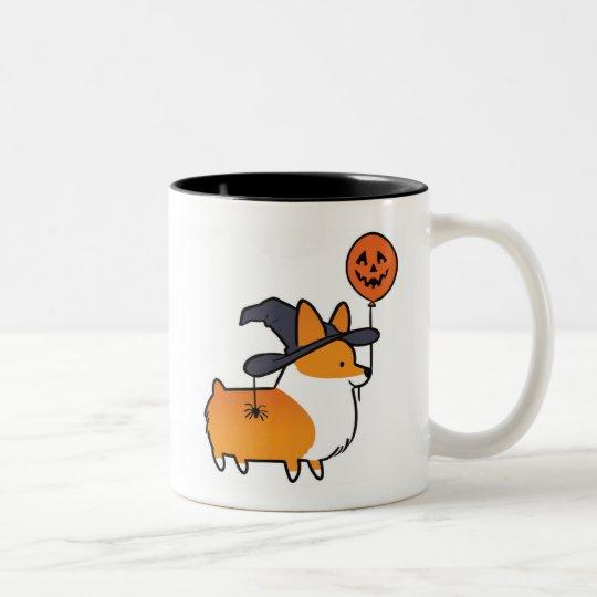 Red Corgi Halloween Mug   CorgiThings