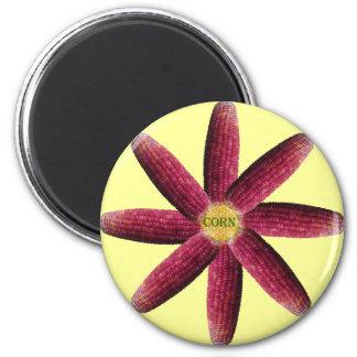 Red Corn Pattern Fridge Magnets