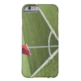 Red corner flag on soccer field barely there iPhone 6 case