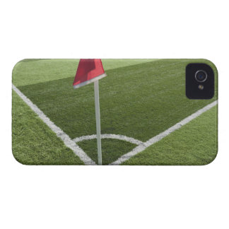 Red corner flag on soccer field Case-Mate iPhone 4 cases