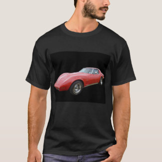 Red Corvette - Black T-Shirt