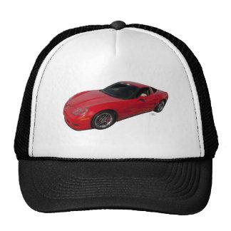 Red Corvette Trucker Hats