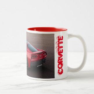 Red Corvette mug