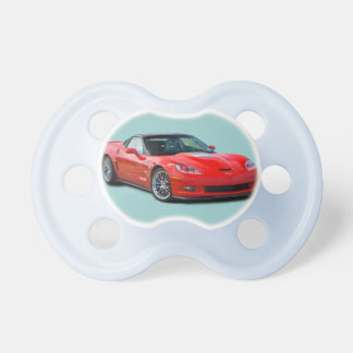 Red Corvette Pacifier ZR1 ZR-1 Chevy