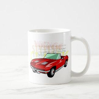 Red Corvette Stingray or Sting Ray sports car Basic White Mug