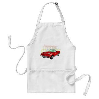Red Corvette Stingray or Sting Ray sports car Standard Apron