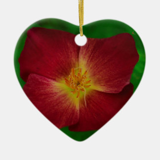 Red Cosmos Flower Design Christmas Ornament