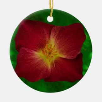 Red Cosmos Flower Design Christmas Ornament