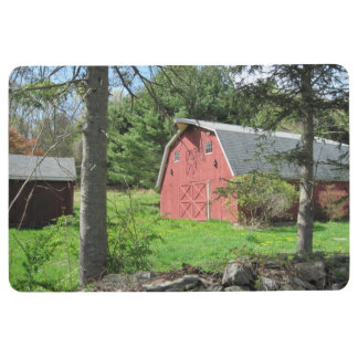 Red Country Barn Floor Mat