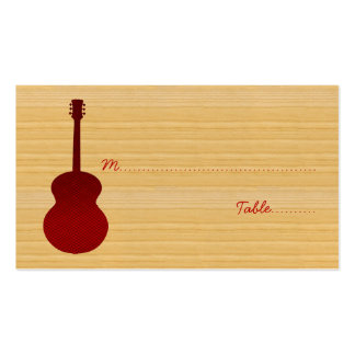 Red Country Guitar Place Card Business Cards