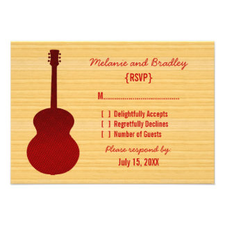 Red Country Guitar Response Card