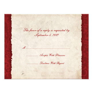 Red Country Wedding RSVP Announcement