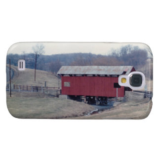 Red Covered Bridge Galaxy S4 Case