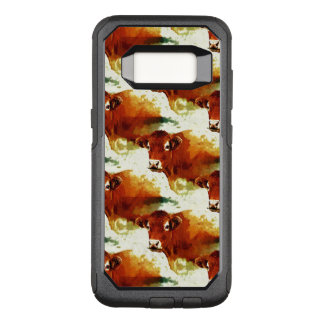 Red Cow Painting OtterBox Commuter Samsung Galaxy S8 Case