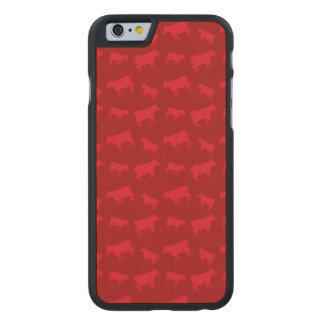 Red cow pattern carved® maple iPhone 6 case