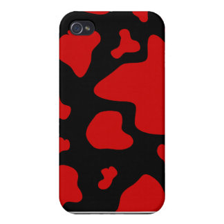 Red Cow Splash Print Speck Case Cover For iPhone 4