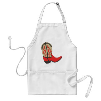 Red Cowboy Boot Standard Apron