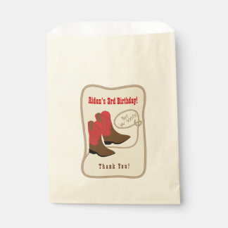 Red Cowboy Boots Birthday Party Thank You Favour Bags